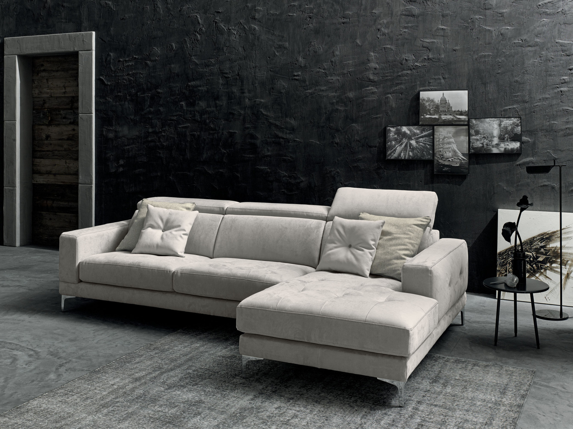 Divani Le Confort.Sofas In Leather Riccardo Lecomfort