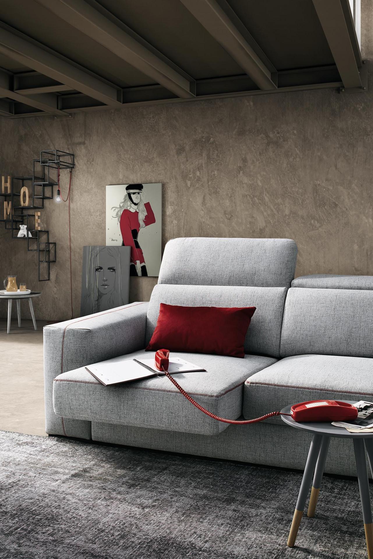 Divani in tessuto astor lecomfort - Profondita divano ...