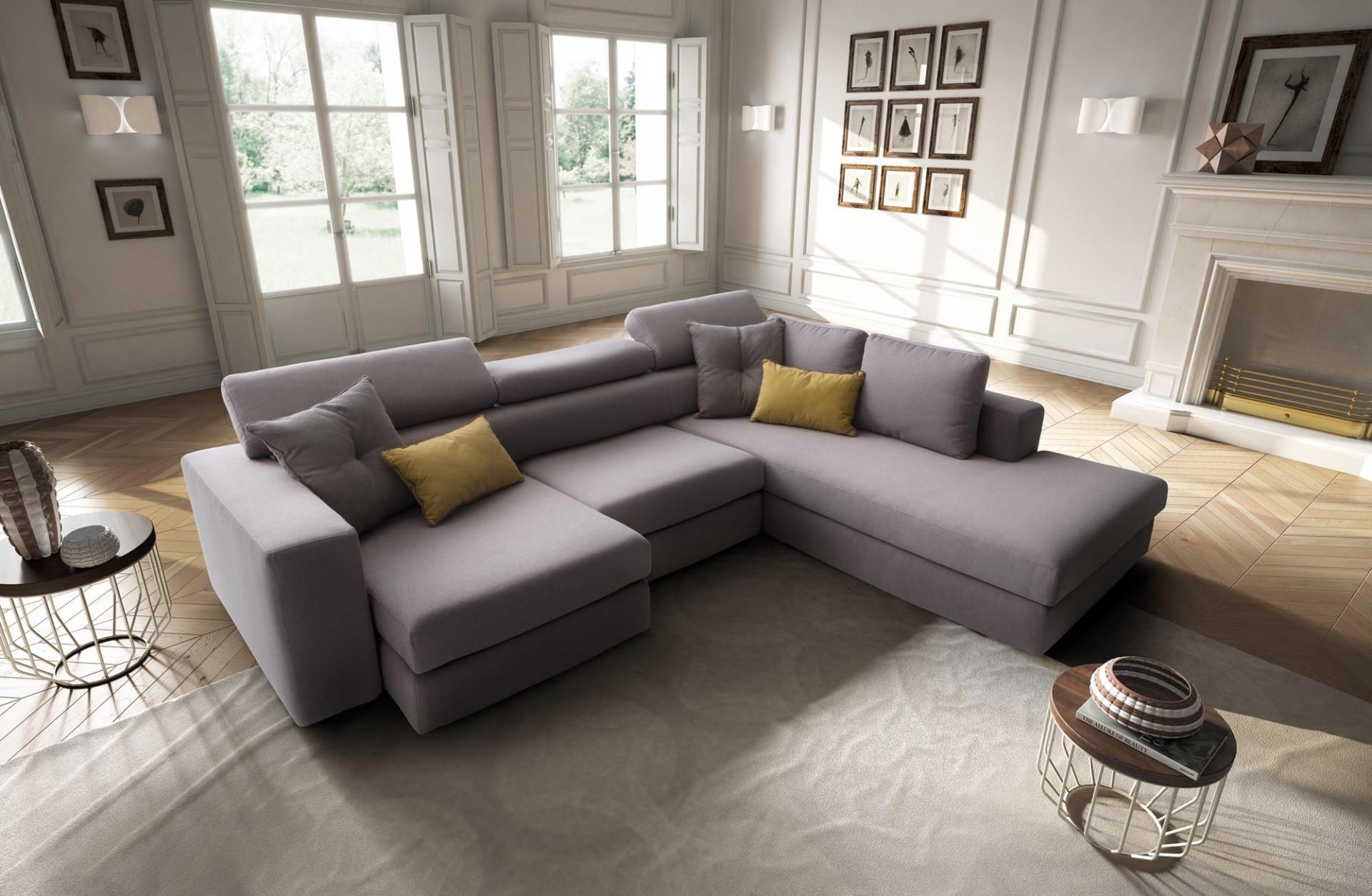 Divani in tessuto paloma lecomfort - Altezza seduta divano ...