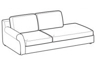 Sofas Abby 3-er w/footstool and arm