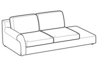 Sofas Abby 3-er w/finished top and arm