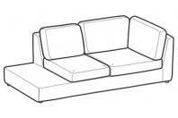 Sofas Abby Lateral angular element w/finished top