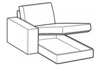 Sofas Simba Chaise Longue with storage