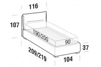 Beds Academy Single bed with FLOOR bed frame