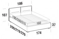 Beds Academy Double bed with FLOOR bed frame