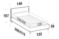 Beds Academy French bed with FLY bed frame