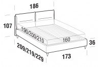 Beds Academy Double bed with FLY bed frame