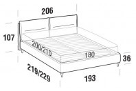 Beds Academy Maxi double bed with FLY bed frame