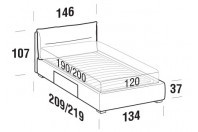 Beds Academy French bed with BOX bed frame