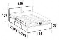 Beds Academy Double bed with BOX bed frame