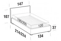 Beds Allen French bed with FLOOR bed frame