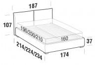 Beds Allen Double bed with FLOOR bed frame