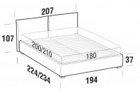 Beds Allen Maxi double bed with FLOOR bed frame