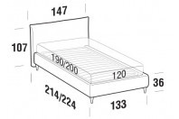 Beds Allen French bed with FLY bed frame