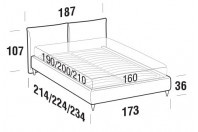 Beds Allen Double bed with FLY bed frame