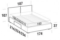 Beds Allen Double bed with BOX bed frame