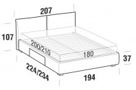 Beds Allen Maxi double bed with BOX bed frame