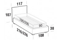 Beds Allen Single bed with STRONG bed frame