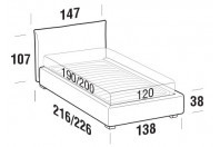 Beds Allen French bed with STRONG bed frame