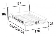 Beds Allen Double bed with STRONG bed frame