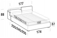 Beds Apollo Double bed with FLOOR bed frame