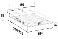 Beds Apollo Maxi double bed with FLOOR bed frame