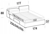 Beds Apollo Double bed with BOX bed frame