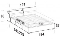 Beds Apollo Maxi double bed with BOX bed frame