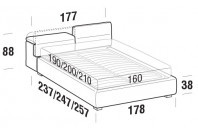 Beds Apollo Double bed with STRONG bed frame