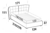 Beds Aspen French bed with FLOOR bed frame