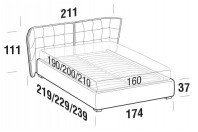 Beds Aspen Double bed with FLOOR bed frame