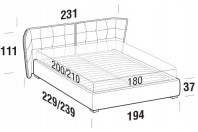 Beds Aspen Maxi double bed with FLOOR bed frame
