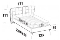 Beds Aspen French bed with FLY bed frame