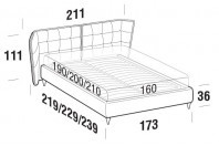 Beds Aspen Double bed with FLY bed frame