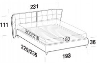 Beds Aspen Maxi double bed with FLY bed frame