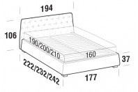 Beds Atrium Double bed with SLANT bed frame