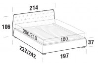 Beds Atrium Maxi double bed with SLANT bed frame