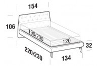 Beds Atrium French bed with UP bed frame
