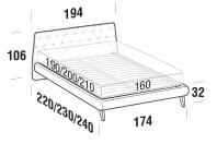 Beds Atrium Double bed with UP bed frame