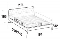 Beds Atrium Maxi double bed with UP bed frame