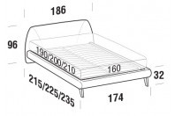 Beds Belmondo Double bed with UP bed frame