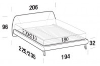 Beds Belmondo Maxi double bed with UP bed frame