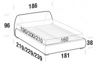 Beds Belmondo Double bed with ROUND bed frame