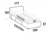 Beds Break Single bed with BOX bed frame