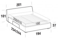 Beds Break Maxi double bed with BOX bed frame