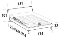 Beds Break Double bed with UP bed frame