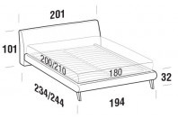 Beds Break Maxi double bed with UP bed frame