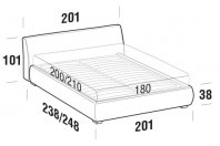 Beds Break Maxi double bed with ROUND bed frame