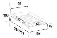 Beds Calvin French bed with SLANT bed frame