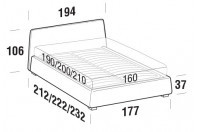 Beds Calvin Double bed with SLANT bed frame